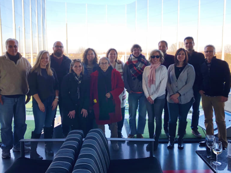 Team Magenta at Top Golf in December 2018